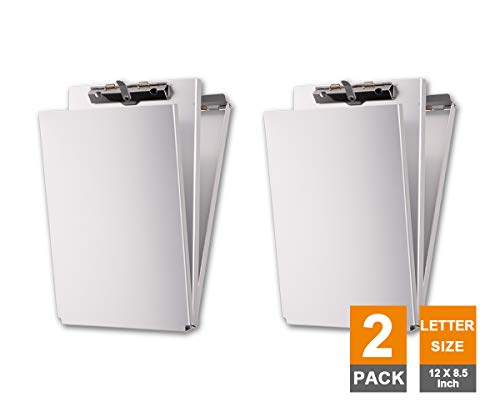 Summit Tools Dual Storage Aluminum Clipboard - 8.5 in. x 12 in. Letter Size Document Holder with Self Locking Latch, Form Clip, 2 Storage Compartment [2-Pack] by Summit Tools (Image #8)