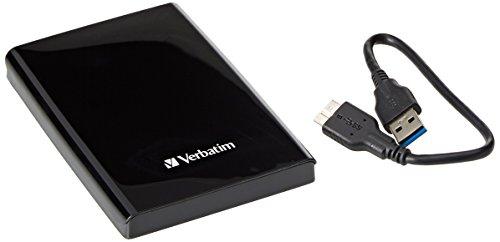 Verbatim 2TB Portable Hard Drive, Store'n'Go - USB 3.0 - Compatible with USB 2.0 - PC/Mac - Diamond Black by Verbatim