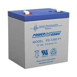 Powersonic PS-1250F2 - 12 Volt/5 Amp Hour Sealed Lead Acid Battery with (12 Volt 5 Amp)