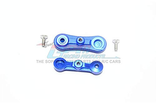 GPM Losi 1:10 Baja Rey / Rock Rey Upgrade Parts Aluminum Stabilizing Mount for Steering Assembly - 1Pr Set Blue - Gpm Steering Assembly