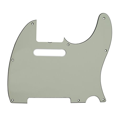 Fender 3-Ply 8-Hole Pickguard for '62 Custom and Highway One Telecaster Guitars, Mint Green
