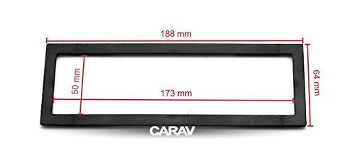 CARAV 11-439 1-DIN Marco de pl/ástico para Radio para Universal Frame for 1-DIN Installation 173 * 50//188 * 64 mm