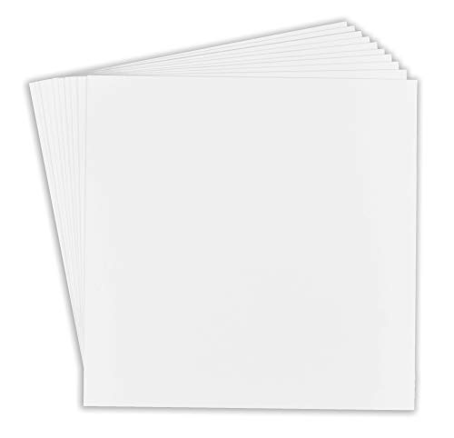 Golden State Art, Pack of 10, 12x12 Picture Mat Matte Backerboards for Framing. Pack Contains 10 Backing boards - 12x12 Art
