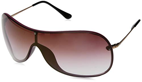 Ray-Ban RB4411 Aviator Sunglasses, Burgundy Demigloss/Dark Red Gradient Mirror, 41 mm (Ray Ban Aviator Red Mirror)