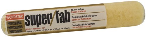 Wooster Brush R242-18 Super/Fab Roller Cover, 1-Inch Nap,...