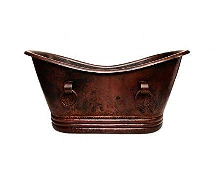 Del Cobre Artisan Hand Hammered Freestanding Copper Bathtub 67 X 31