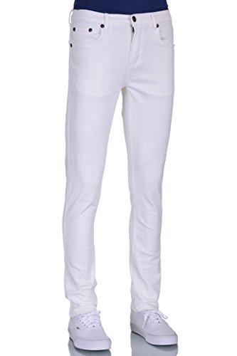 Men Skinny White colored Stretch Jeans 38W X 32L
