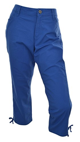 (DKNY Jeans Womens Drawstring Hem Capri Pants (Royal Blue, 2))