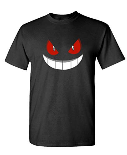 The Goozler Gengar Halloween FACE - Costume Funny - Mens Cotton T-Shirt, L, Black USA Made