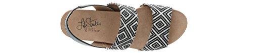 LifeStride Women's Marcela Wedge Sandal, Black/White, 10 M US by LifeStride (Image #7)