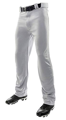 Champro Youth MVP Open Bottom Relaxed Fit Baseball Pant, Grey, X-Small