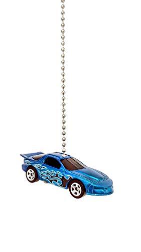 Pontiac Firebird Diecast Ceiling Fan - Light Pull Ornament 1/64 (1997 Pontiac Firebird Blue)