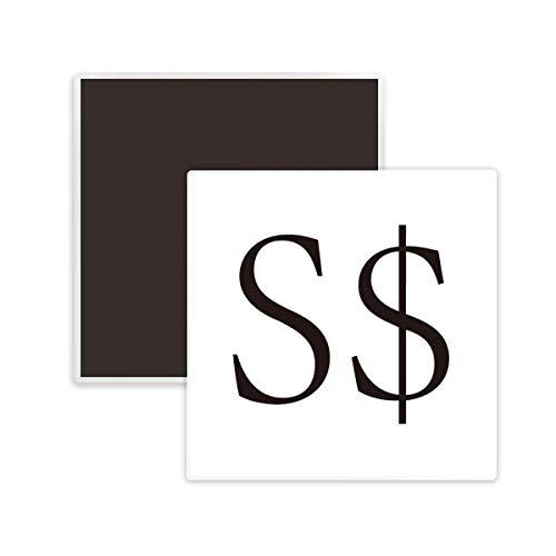Symbol Singapore Dollar Square Ceramics Fridge Magnet 2pcs ()