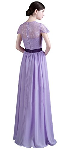 Drasawee Open dress Evening Women's Party Fork Lace Long Gown Sexy Chiffon r4xr8wtOq