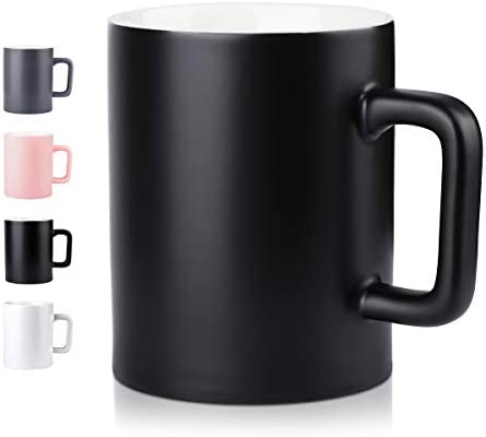 Ceramic Cup Newanovi Smooth Frosted Porcelain Mug Coffee Mugs Tea Cup For Office And Home Health Gift Maximum Capacity 16 9oz Black Amazon Sg Home