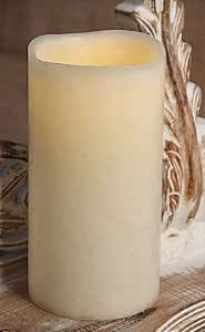Flickering Ultra Bright LED Cream Candle Light 3-in X 8-in Incl Timer