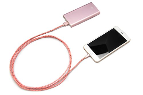 LAX Gadgets Extra Long Apple MFi Certified Nylon Lightning Cable Cord | 6 Ft - Pink by LAX Gadgets (Image #4)