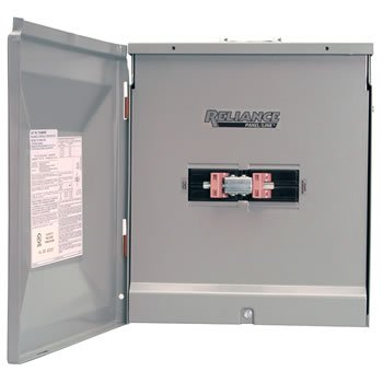- Reliance Controls TCA1010DR Outdoor Transfer Panel - 100A Utility and 100A Generator