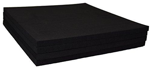 XCEL Rubber Foam Non Slip Furniture Pads, Craft Foam, Cushion Foam, Acoustic Foam Studio Squares 9 in x 9 in x 3/8 in (4 ()