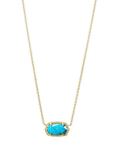 Kendra Scott Womens Elisa Necklace Gold/Aqua/Howlite One Size