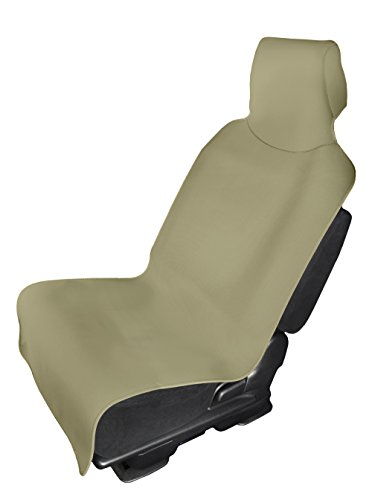 - Neoprene Car Seat Cover Waterproof Seat Protector- Protects Your Trucks, SUV and Cars from Sweat, Dirt, Stain - Best for Workout, Yoga, Athletes, Runners, Dogs (Beige)