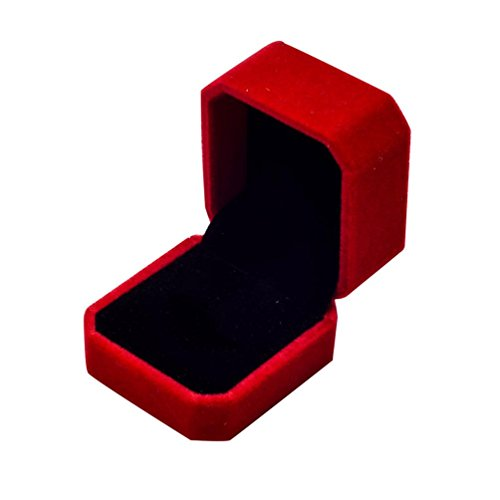 Binmer(TM) Fashion Velvet Engagement Wedding Earring Ring Pendant Jewelry Display Box Gift (High Fashion Necklace Gift Box)