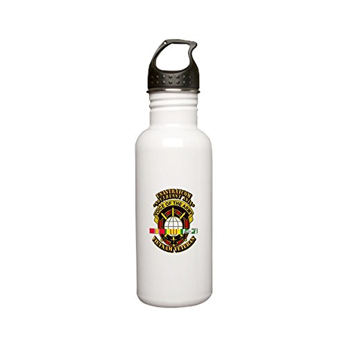 CafePress - Army - USASTRATCOM (Southeast Asia) w SVC Ribbons - Stainless Steel Water Bottle, 0.6L Sports Bottle (Ribbons Svc)