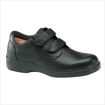Apex Men's Adjustable Conform Oxford Black Full Grain 9.5 XW (Apex Mens Shoes)