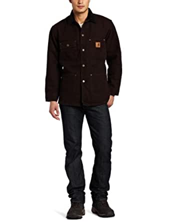 Carhartt Men's Big & Tall Chore Coat Blanket Lined Sandstone,Dark Brown,XXX-Large