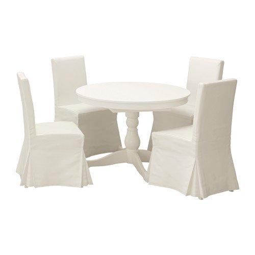 Ikea Table and 4 chairs, white, Blekinge white 12204.261411.2226