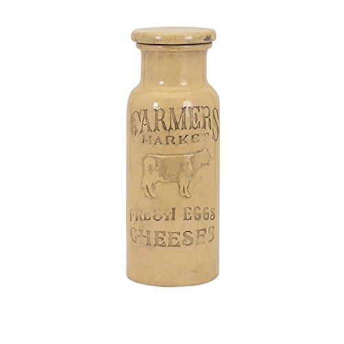 Large Cream Jug (IMAX 95602 Farmers Market Lidded Jar,)