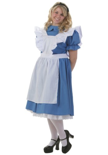 Deluxe Plus Size Alice Costume - 3X - Adult Deluxe Peter Pan Costumes