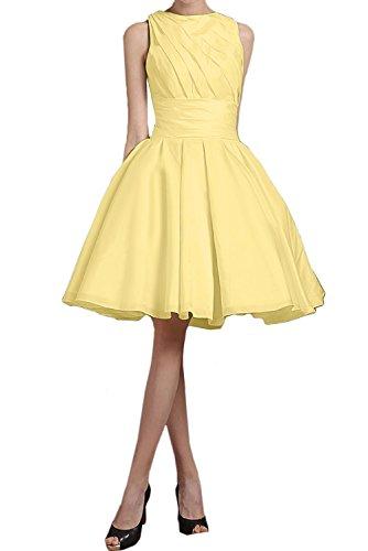 amarillo Vestido trapecio Topkleider para mujer qIp1wzw