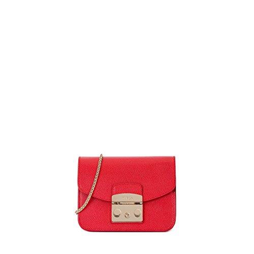 Furla Women's Metropolis Mini Cross Body Bag, Ruby, One Size