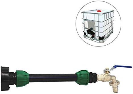 """Kitabetty IBC Tankadapter, IBC Tankhahnadapter PE-Rohrverbinder Tankverlängerungs-Steckverbinderserie, Eigenschaften S60x6 (60mm) 3/4""""Innengewinde, Geeignet zum Erweitern der Verschiebung von IBC Tap"""