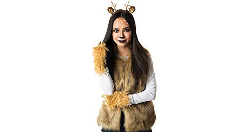 M&J Trimmings Papillion Accessories Deer Halloween Costume Accessory Kit for Women, 3 Pieces -