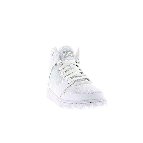 Nike Jordan 1 Flight 4 Bg, Zapatillas de Deporte para Niños Blanco / Plateado / Blanco (White / Metallic Silver-White)