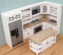 modern dollhouse furniture. dollhouse miniature modern white and stainless kitchen set furniture n