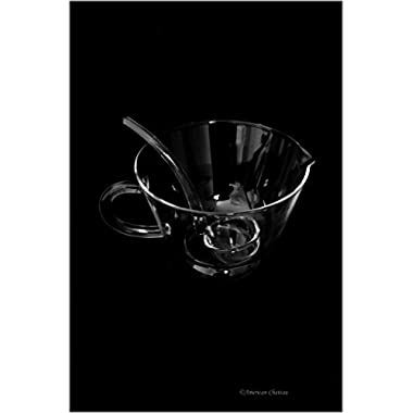 Circleware Clear Glass Gravy Boat with Ladle and Handle, 24 Ounce, Limited Edition Glassware Serveware Set