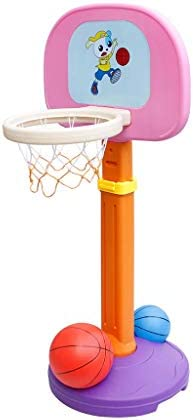 バスケットボールの子供ベビープラスチックキャストバスケットボール屋内幼稚園のおもちゃ子供の漫画はバスケットボールラックを持ち上げることができるラックラック