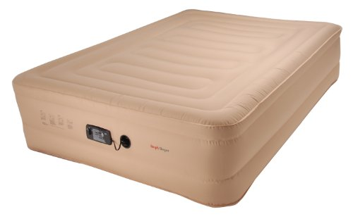 SimplySleeper SS-89Q Premium Ultra Tough Raised Inflatable Mattress, Beige, Queen