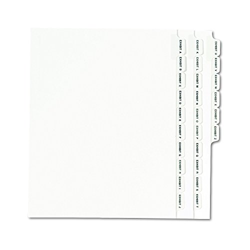 (Avery Standard Collated Legal Dividers, Letter Size, Exhibit A-Exhibit Z Tab Set, 1 Set, White (1370))