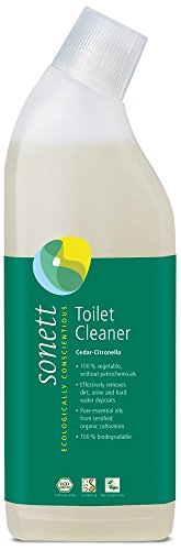 - Sonett Organic Toilet Cleaner Cedar-Citronella (25fl Oz/ 750ml) Effectively removes Dirt, Urine and Hard Water deposits.Pure Essential Oils from Certified Organic Cultivation.