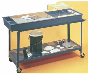 American Educational Steel Hydro Geology Stream Table Cart