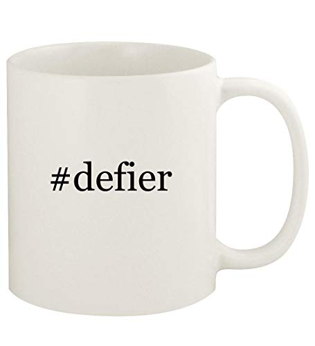 #defier - 11oz Hashtag Ceramic White Coffee Mug Cup, White (K Swiss Defier Rs Mens Tennis Shoes)