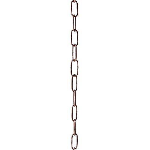 Copper Finish 6 Light (RCH Hardware CH-S58-40-AC 6 Gauge Decorative Solid Steel Spanish Link Fixture Chain | 1 Foot Increments |Antique Copper Finish)