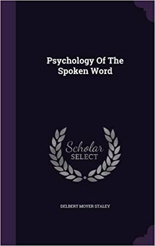 Book Psychology Of The Spoken Word