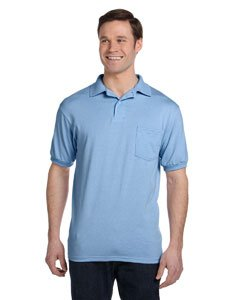 Hanes Blue Blend Shirt - Hanes Men's Cotton-Blend EcoSmart® Jersey Polo with Pocket