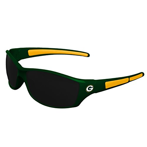(FOCO NFL Green Bay Packers Athletic Wrap Sunglassesteam Logo Athletic Wrap Sport Sunglasses, Team Color, One Size)