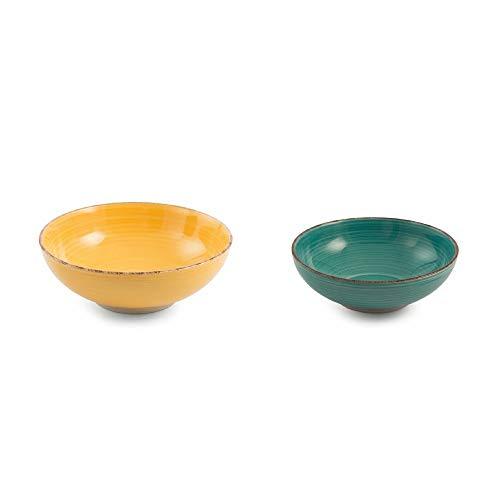 Villa D'Este Home Tivoli 2193050 Salad Bowl Set Stoneware (Villa Deste Bowl)